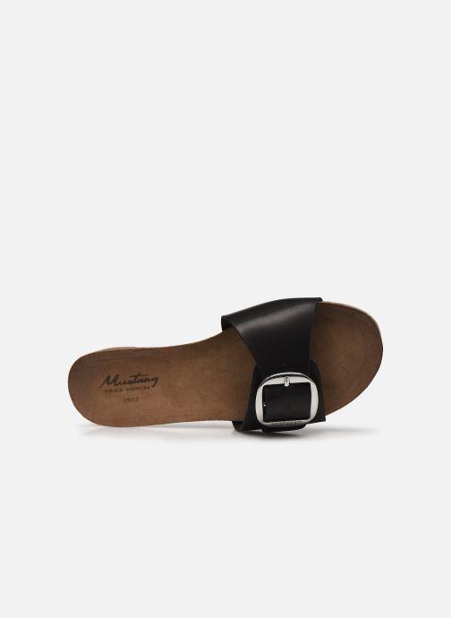 Clogs & Pantoletten Mustang shoes Brinda schwarz ansicht von links