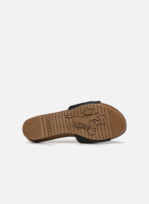 Clogs & Pantoletten Mustang shoes Brinda schwarz ansicht von oben