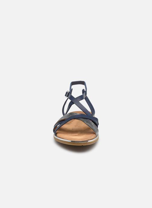 Sandales et nu-pieds Mustang shoes Luane Bleu vue portées chaussures