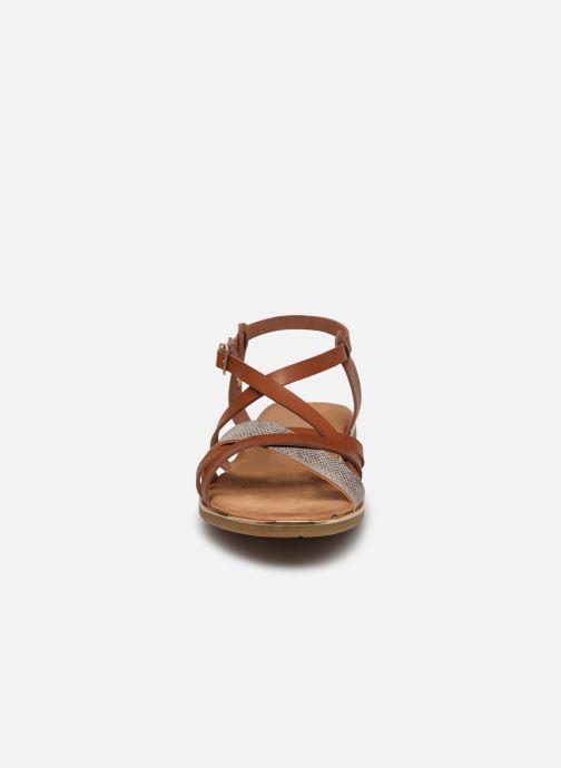 Sandales et nu-pieds Mustang shoes Luane Marron vue portées chaussures