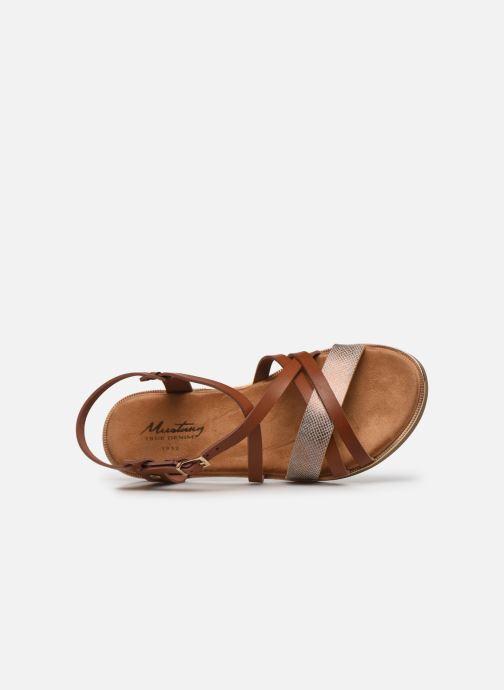 Sandales et nu-pieds Mustang shoes Luane Marron vue gauche