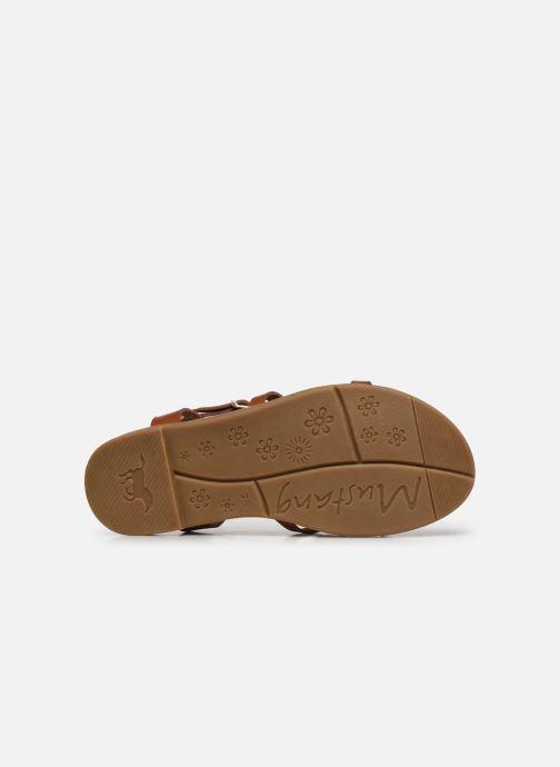Sandales et nu-pieds Mustang shoes Luane Marron vue haut
