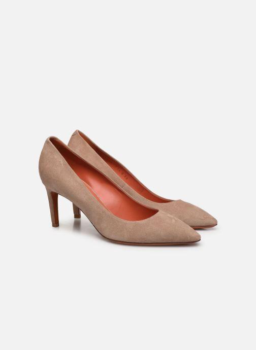 Zapatos de tacón Santoni MINNA 70 Beige vista 3/4
