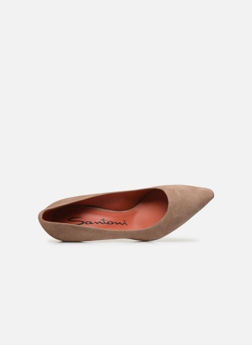 Zapatos de tacón Santoni MINNA 70 Beige vista lateral izquierda