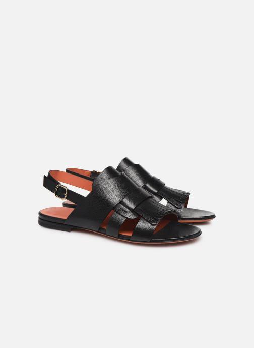 Sandales et nu-pieds Santoni BRIGITTE FLAT 58524 Noir vue 3/4