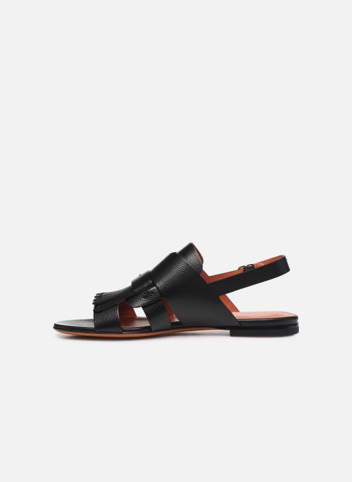 Sandales et nu-pieds Santoni BRIGITTE FLAT 58524 Noir vue face