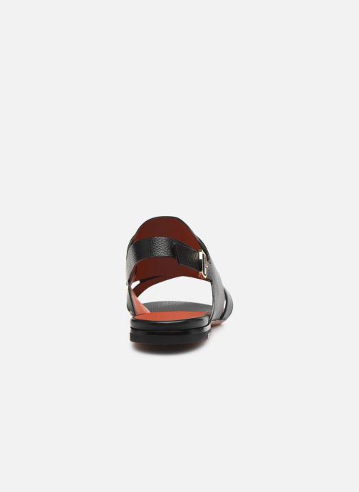 Sandales et nu-pieds Santoni BRIGITTE FLAT 58524 Noir vue droite