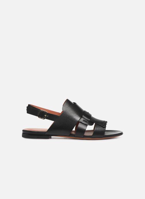 Sandales et nu-pieds Santoni BRIGITTE FLAT 58524 Noir vue derrière