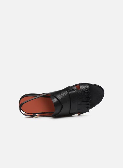 Sandales et nu-pieds Santoni BRIGITTE FLAT 58524 Noir vue gauche