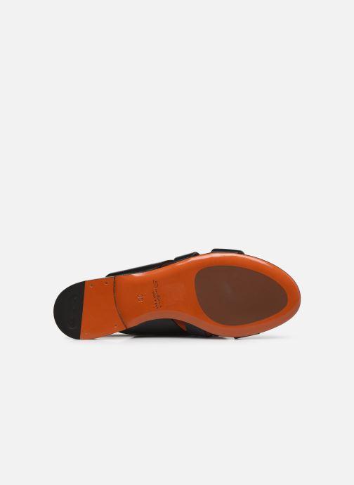 Sandales et nu-pieds Santoni BRIGITTE FLAT 58524 Noir vue haut