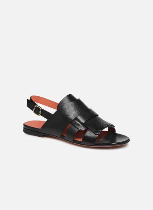 Sandales et nu-pieds Santoni BRIGITTE FLAT 58524 Noir vue détail/paire