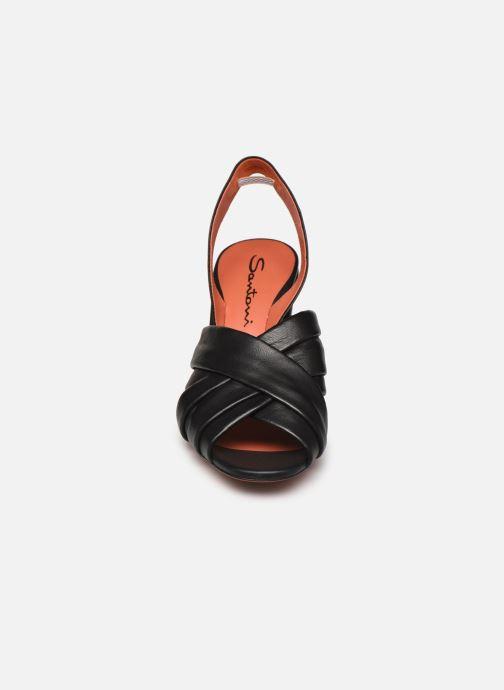 Sandalias Santoni MANET 58516 Negro vista del modelo