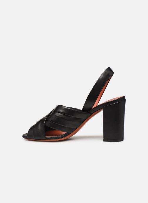 Sandali e scarpe aperte Santoni MANET 58516 Nero immagine frontale