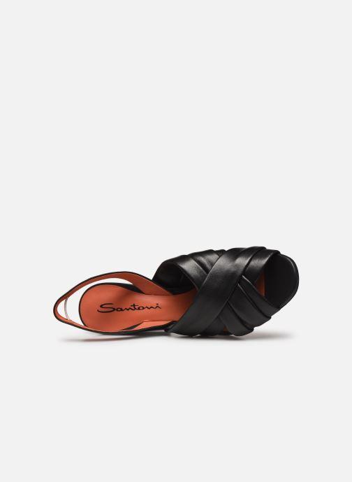 Sandalias Santoni MANET 58516 Negro vista lateral izquierda