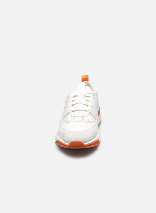 Baskets Santoni INNOVA Blanc vue portées chaussures
