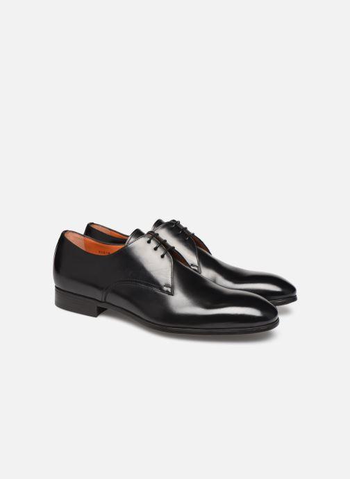 Zapatos con cordones Santoni Simon 15018 Negro vista 3/4