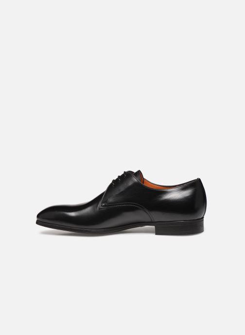 Zapatos con cordones Santoni Simon 15018 Negro vista de frente