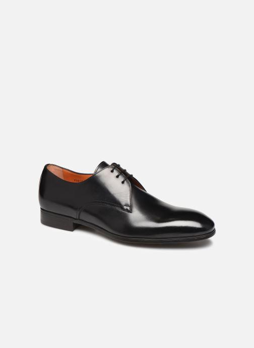 Zapatos con cordones Santoni Simon 15018 Negro vista de detalle / par