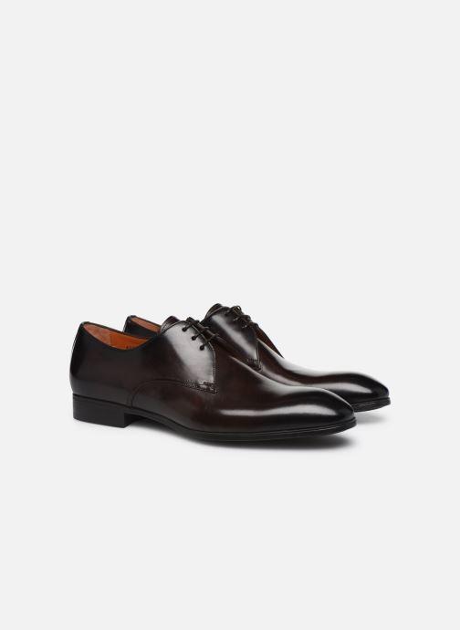 Zapatos con cordones Santoni Simon 15018 Marrón vista 3/4