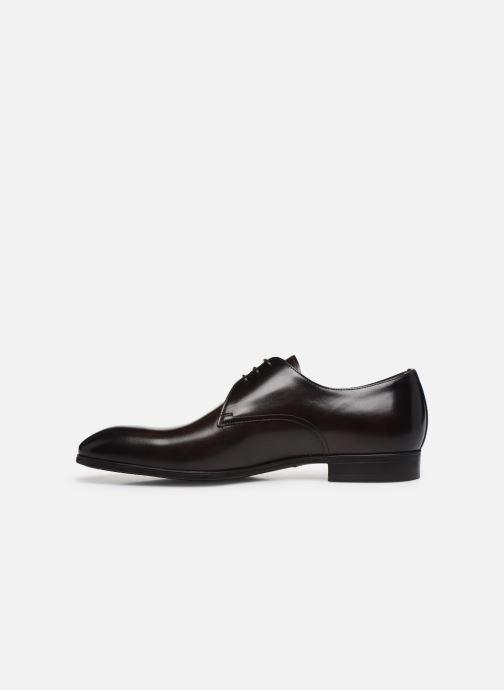 Zapatos con cordones Santoni Simon 15018 Marrón vista de frente