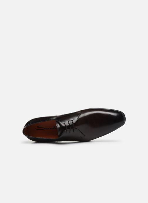 Chaussures à lacets Santoni Simon 15018 Marron vue gauche