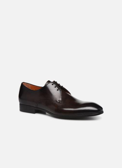 Zapatos con cordones Santoni Simon 15018 Marrón vista de detalle / par