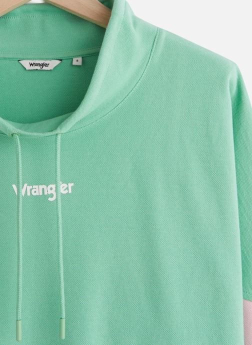 Vêtements Wrangler 90S Sweat Neptune Green Vert vue portées chaussures
