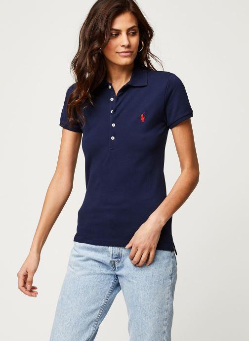 Vêtements Polo Ralph Lauren Julie Polo-Skinny-Short Sleeve-Knit Bleu vue détail/paire