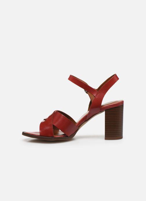 Sandales et nu-pieds Georgia Rose Parina Rouge vue face