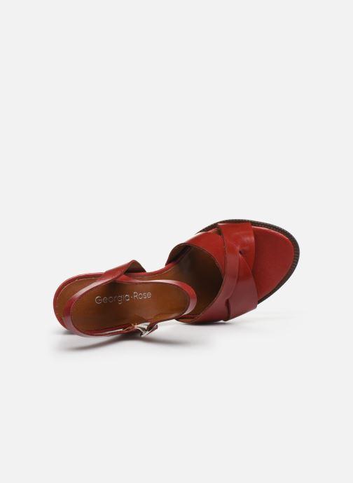 Sandales et nu-pieds Georgia Rose Parina Rouge vue gauche