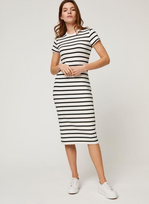 Vêtements Polo Ralph Lauren Ss Stripe Dr-Short Sleeve-Casual Dress Noir vue bas / vue portée sac
