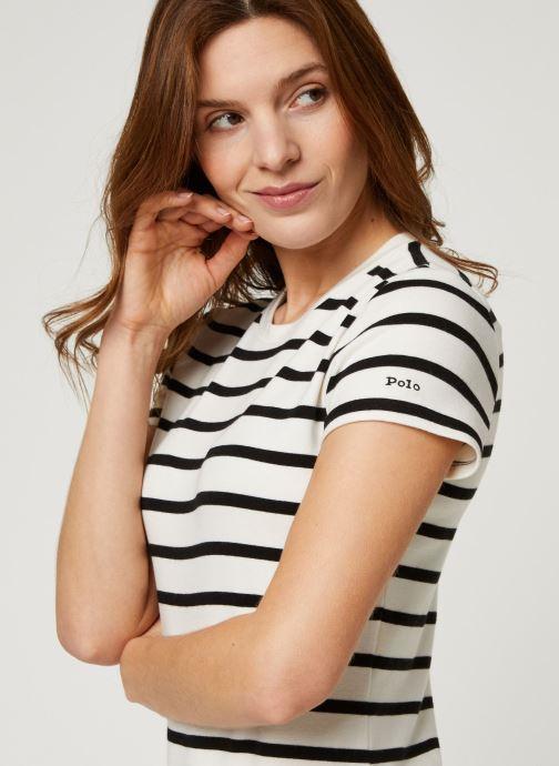 Vêtements Polo Ralph Lauren Ss Stripe Dr-Short Sleeve-Casual Dress Noir vue face