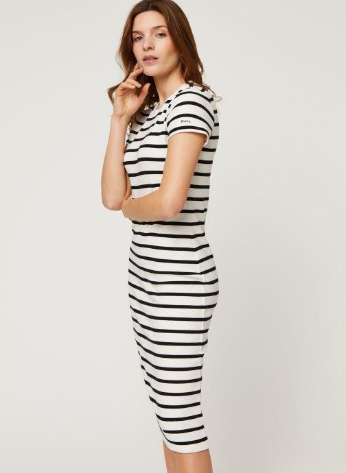 Vêtements Polo Ralph Lauren Ss Stripe Dr-Short Sleeve-Casual Dress Noir vue droite
