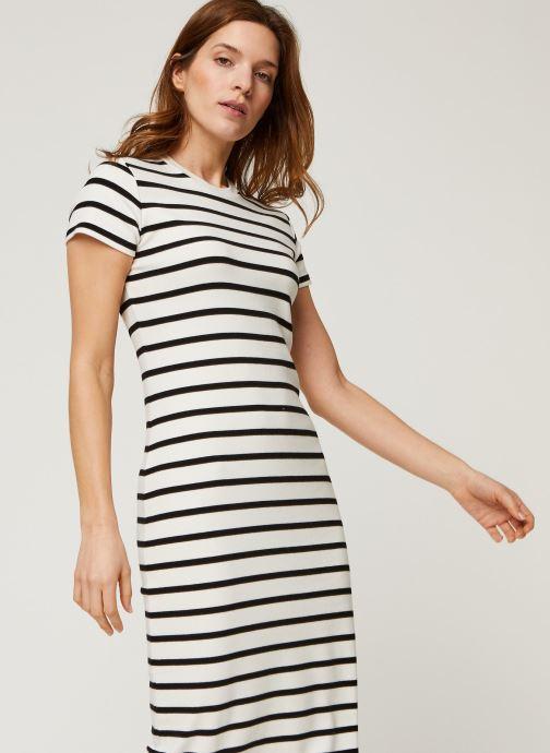 Vêtements Polo Ralph Lauren Ss Stripe Dr-Short Sleeve-Casual Dress Noir vue détail/paire