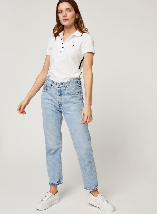 Vêtements Polo Ralph Lauren Nv Bead Jlie-Short Sleeve Polo Blanc vue bas / vue portée sac