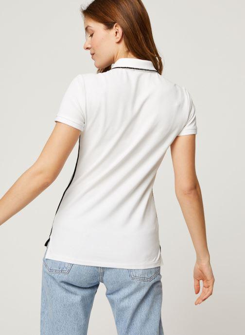 Vêtements Polo Ralph Lauren Nv Bead Jlie-Short Sleeve Polo Blanc vue portées chaussures