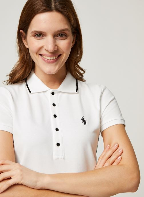 Vêtements Polo Ralph Lauren Nv Bead Jlie-Short Sleeve Polo Blanc vue face