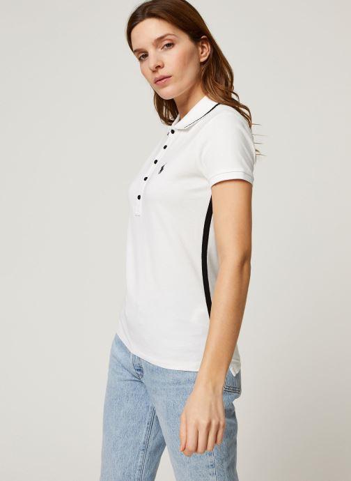 Vêtements Polo Ralph Lauren Nv Bead Jlie-Short Sleeve Polo Blanc vue droite