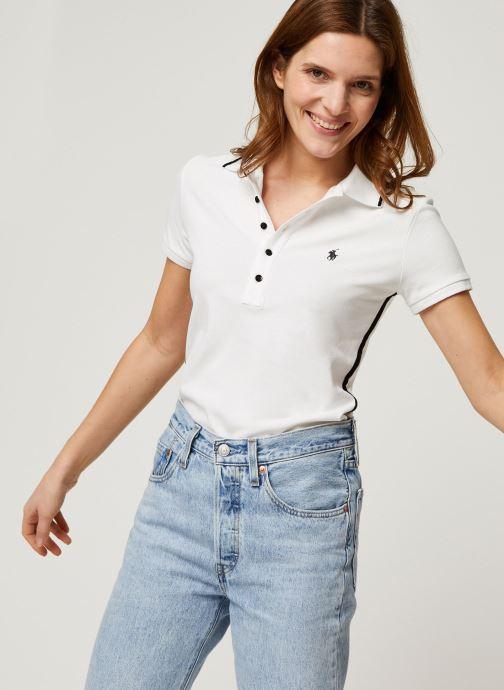 Vêtements Polo Ralph Lauren Nv Bead Jlie-Short Sleeve Polo Blanc vue détail/paire