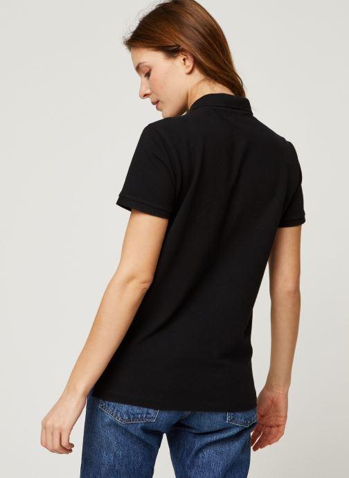 Vêtements Polo Ralph Lauren Beaded Cl Ft-Short Sleeve Polo Noir vue portées chaussures