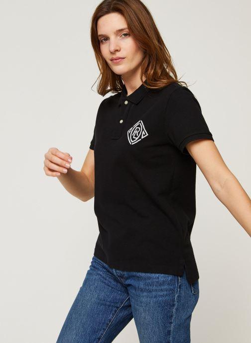 Vêtements Polo Ralph Lauren Beaded Cl Ft-Short Sleeve Polo Noir vue droite