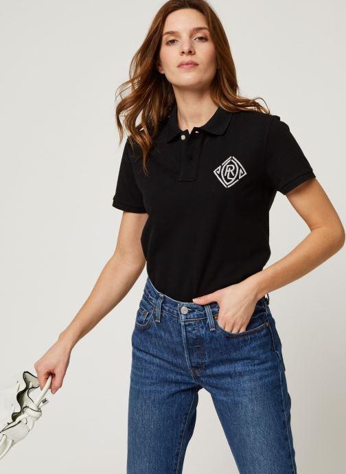 Vêtements Polo Ralph Lauren Beaded Cl Ft-Short Sleeve Polo Noir vue détail/paire