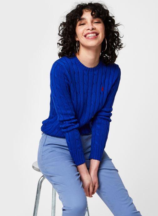 Vêtements Polo Ralph Lauren Julianna-Classic-Long Sleeve-Sweater Bleu vue détail/paire