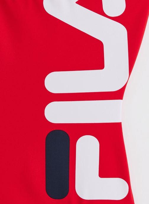 Vêtements FILA Yuko Swimsuit Rouge vue portées chaussures