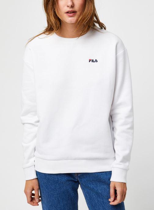 Vêtements FILA Effie Crew Sweat Blanc vue droite