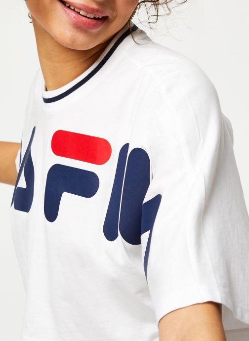 Vêtements FILA Barr Cropped Wide Tee Blanc vue face