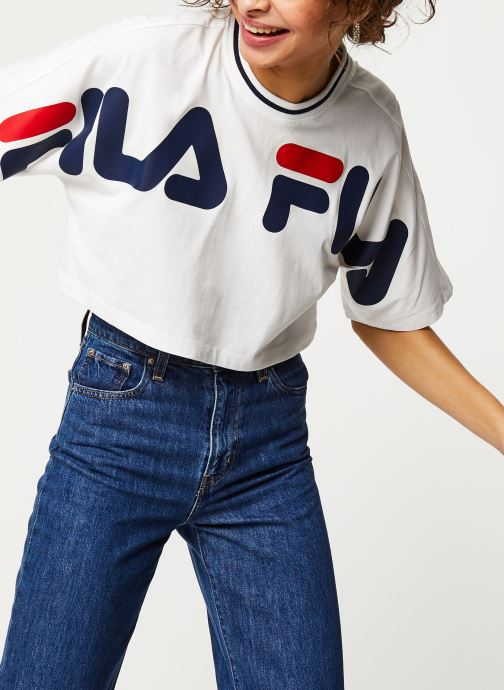 Vêtements FILA Barr Cropped Wide Tee Blanc vue détail/paire