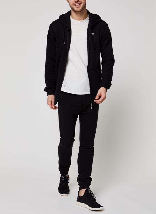 Vêtements FILA Elazer Sweat Jacket Noir vue bas / vue portée sac