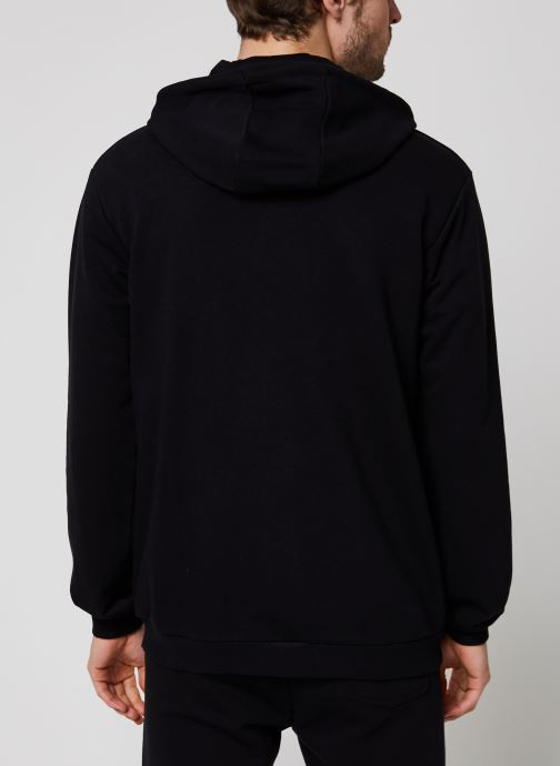 Vêtements FILA Elazer Sweat Jacket Noir vue portées chaussures