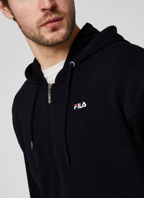 Vêtements FILA Elazer Sweat Jacket Noir vue face